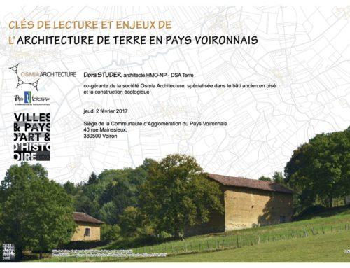intervention pour le Pays d'Art et d'Histoire du Pays Voironnais